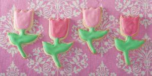 Tulip shaped cookies