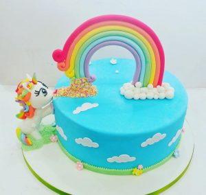 My little pony unicorn birthday Cake