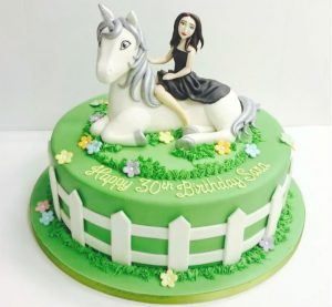 Green Garden Unicorn Cake 30th Birthday