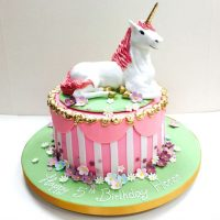 Pink Circus Unicorn Cake - 5th Birthday