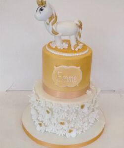 Golden Unicorn Cake - Emma