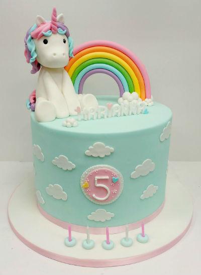 Unicorn Fairy Birthday Cake