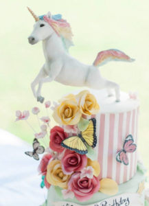 unicorn themed birthday cake image