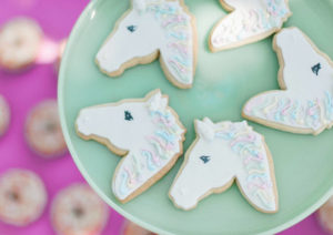 unicorn themed biscuits