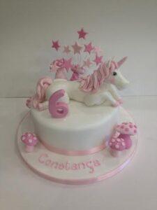 Pink Unicorn birthday cake - 6th Birthday