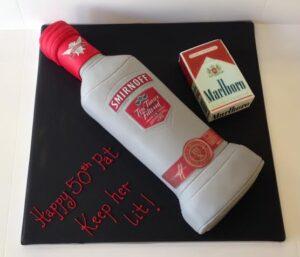Vodka and cigarette cake