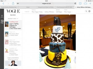 Vogue.co.uk featuring the cake