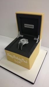 Designer watch birthday cake