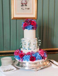 Traditional Flower Wedding Cake