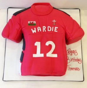 Welsh rugby shirt birthday cake