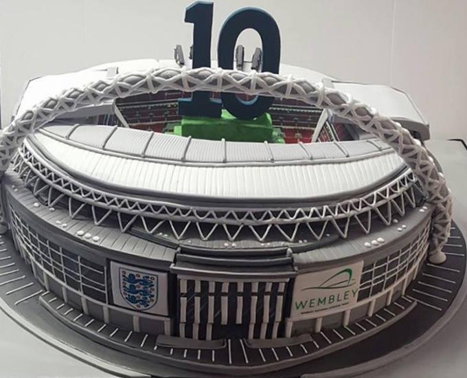 Wembley Stadium Corporate Cake