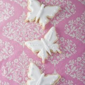 White glittery butterflies £3.50 each