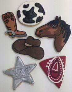 Wild west party cookies