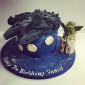 Yoda and Millenium Falcon