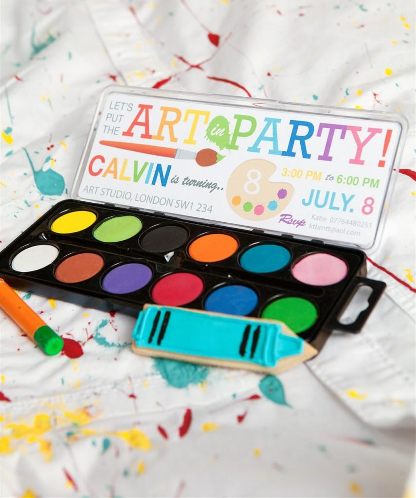 Artist party theme ideas