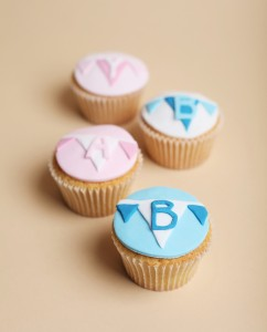 baby boy and girl cupcakes