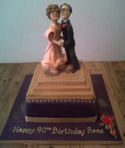 Ballroom dancers birthday cake