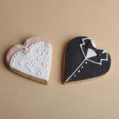 bride-groom-heart-cookies