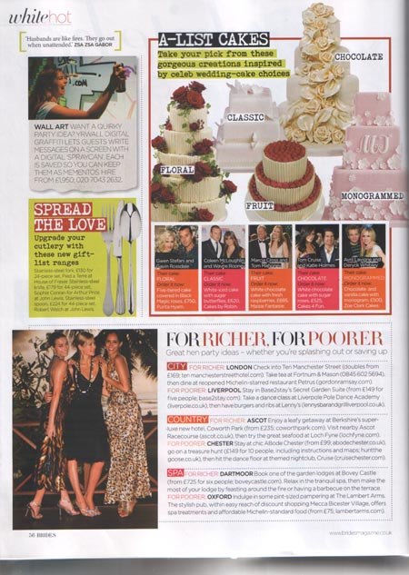 Brides magazine July August 2010