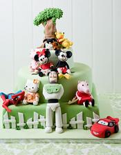 Cartoon character birthday cake