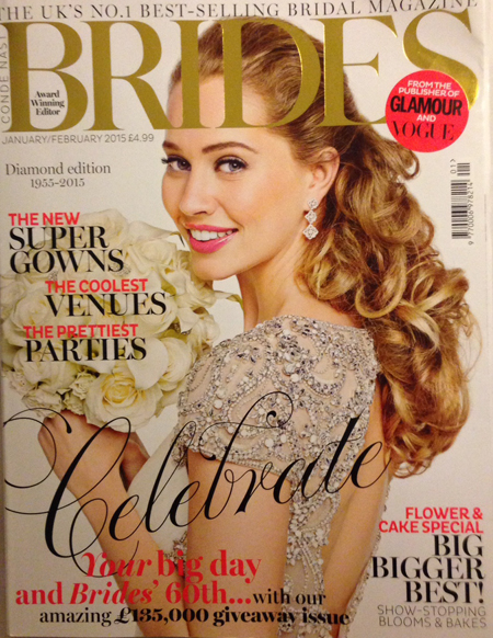 Cakes by Robin in Jan/Feb 2015 Brides magazine