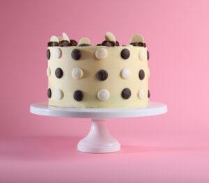 Chocolate button patisserie cake