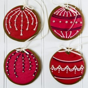 christmas bauble cookie