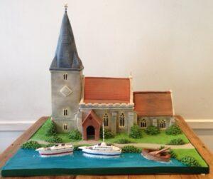 Church model birthday cake