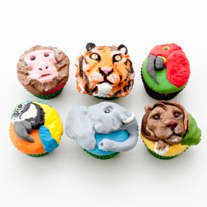 Jungle themed cupcakes