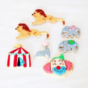 Circus theme cookies