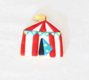 Circus tent cookie