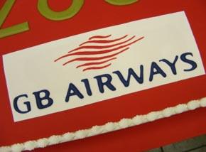 GB Airways corporate cake