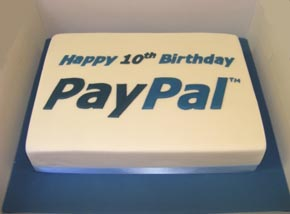 Paypal corporate cake