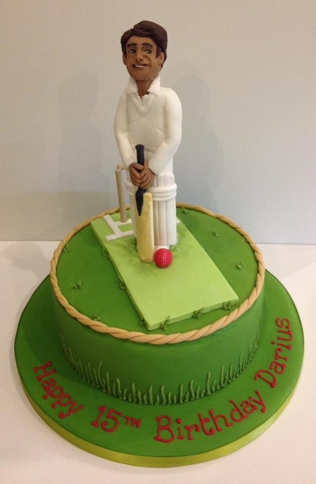 Cricketer Birthday Cake Cakes By Robin