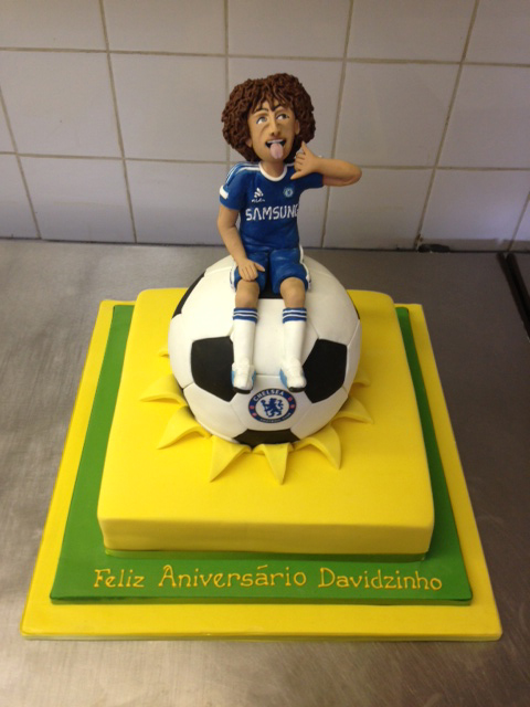 David Luiz birthday cake