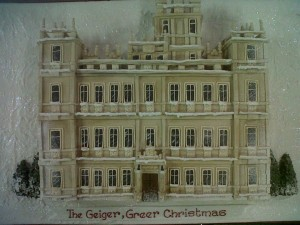 Downton Abbey Christmas cake