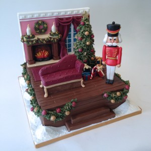 Festive Greetings Christmas Cake