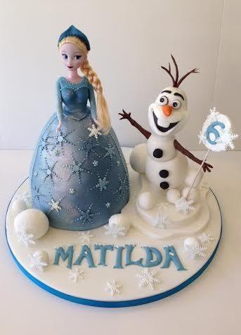 Brilliant Frozen Anna And Elsa Birthday Cakes London Cakes By Robin Funny Birthday Cards Online Elaedamsfinfo