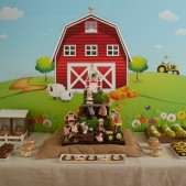 Farm themed dessert table