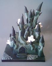 halloween castle cake