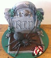 Halloween Grave Stone Cake