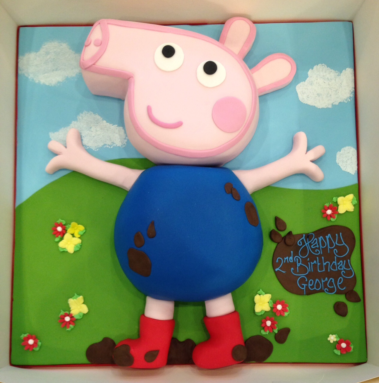 George Pig Birthday Cake Uk