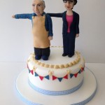 Norman does semaphore birthday cake
