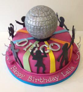 Disco birthday cake disco party cake