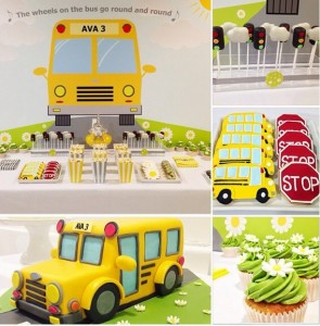 Wheels on the Bus themed party