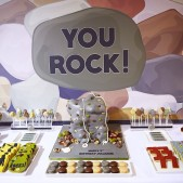 Rock climbing dessert table