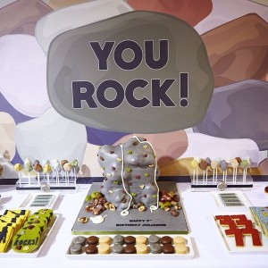 Rock climbing dessert table