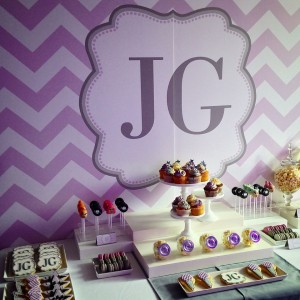 Popstar party dessert table