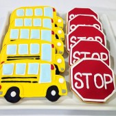 Wheels on the bus cookies