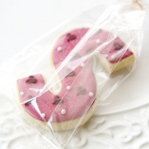 Initial cookie wedding favour